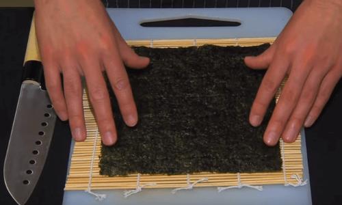 alga nori para hacer sushi