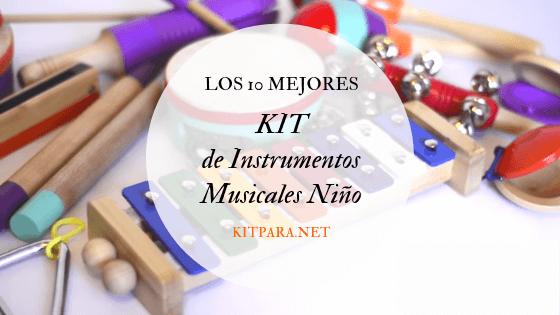 kit de instrumentos musicales niños